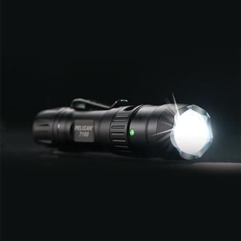 Pelican™ 7100 Tactical Flashlight providing nearly 700 lumens of light output