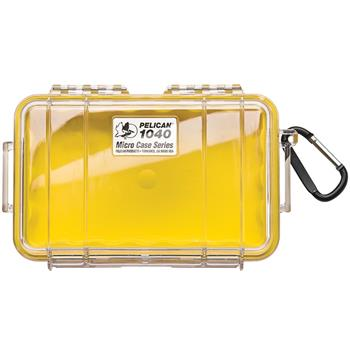 Clear Pelican 1040 Micro Case with Yellow Liner