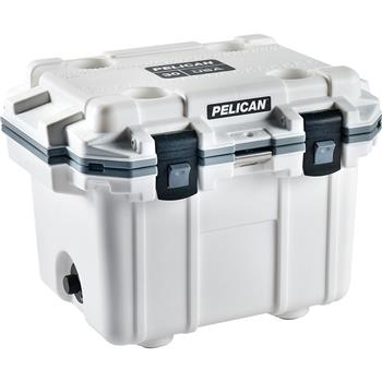 White Pelican™ Cooler 30 Quart Elite Cooler with Gray Trim