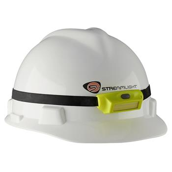Streamlight Bandit Pro Headlamp with 3M® Dual Lock® with rubber hard hat strap