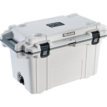 White Pelican™ 70 Quart Elite Cooler with gray trim