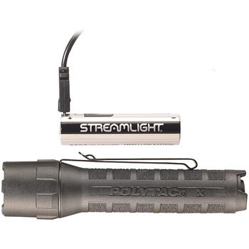 Black Streamlight PolyTac X USB LED Flashlight with USB Lithium Ion Battery