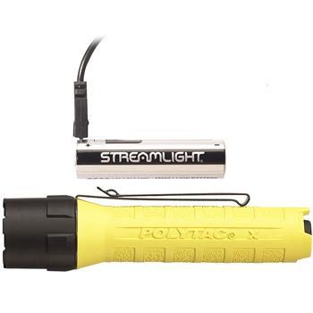 Streamlight PolyTac X USB LED Flashlight with rechargeable 18650 USB battery