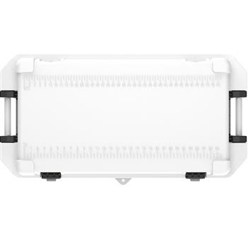 Pelican™ Cooler 95 Quart White Elite Cooler with integrated fish scale in the lid