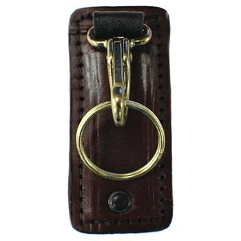 Cordovan Brown Stallion Leather™ Clip-on Plain Leather Key Holder