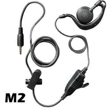 Agent C-Ring Surveillance Radio Earpiece with M2 Connector