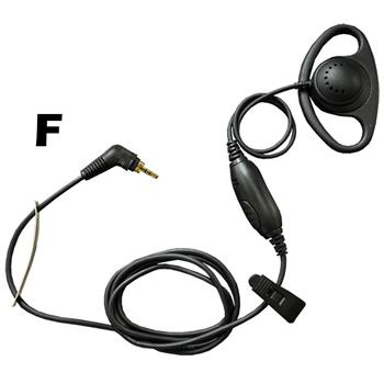 Agent D-Ring Cell Phone Earpiece with F Connector