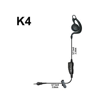 Agent C-Ring Surveillance Radio Earpiece with K4 Connector