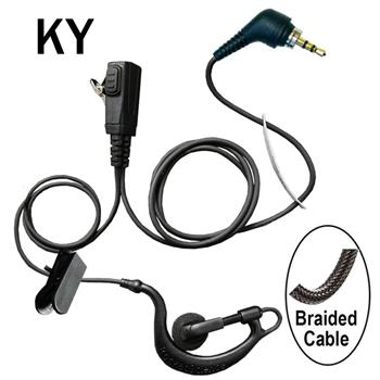 BodyGuard Surveillance Cell Phone Earpiece with a Braided Cable and 3.5mm headset jack