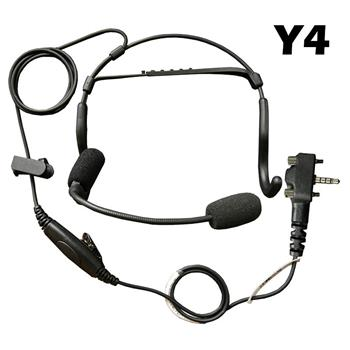 CrewChief Lightweight Radio Headset with Y4 Connector