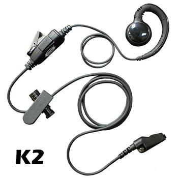Curl Radio Earpiece with K2 Connector