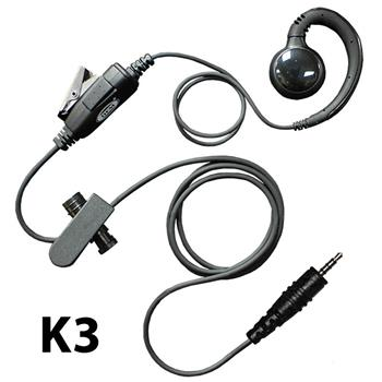 Curl Radio Earpiece with K3 Connector