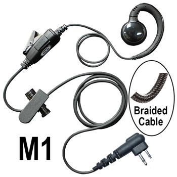 Curl Radio Earpiece with a Braided Cable and M1 Connector