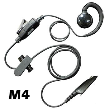 Curl Radio Earpiece with M4 Connector