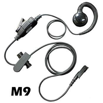 Curl Radio Earpiece with M9 Connector
