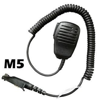 Flare Compact Speaker Microphone with an M5 connector