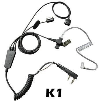 Stealth Radio Earpiece with K1 Connector and a Ring-Finger PTT Button