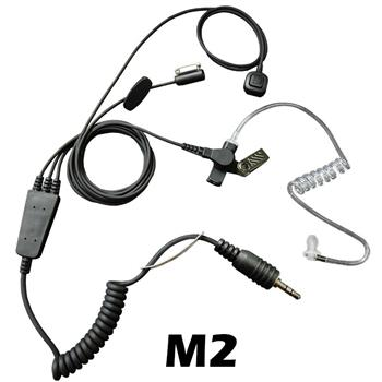 Stealth Radio Earpiece with M2 Connector and a Ring-Finger PTT Button