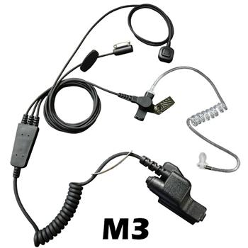 Stealth Radio Earpiece with M3 Connector and a Ring-Finger PTT Button
