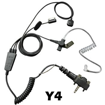 Stealth Radio Earpiece with Y4 Connector and a Ring-Finger PTT Button