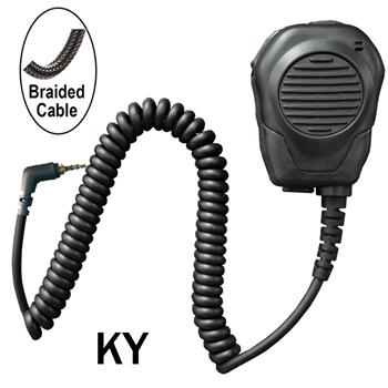 Valor Speaker Microphone with Braided Cable and a 3.5mm headset jack