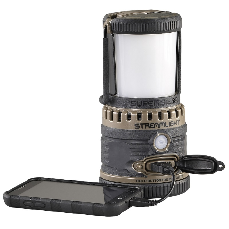 Streamlight Super Siege Lantern charges most smart phones