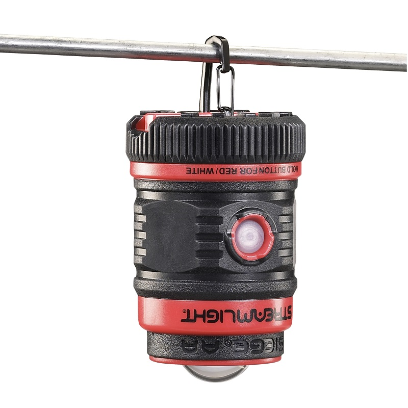 Streamlight Siege AA Lantern hanges with an incorporated D-ring