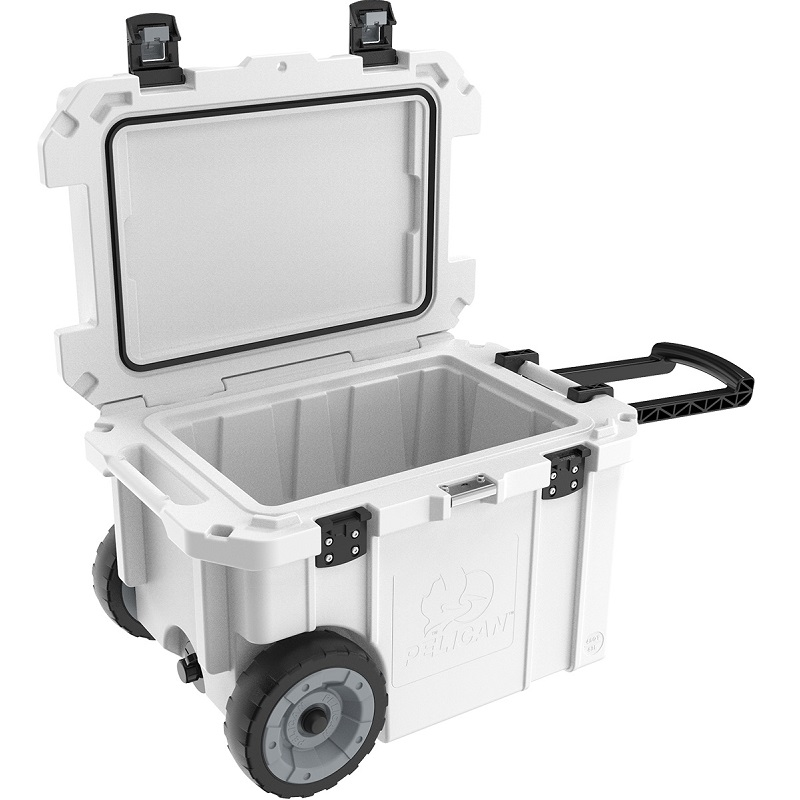 Pelican™ Cooler 45 Quart Elite Cooler with heavy duty wheels and trolley handle