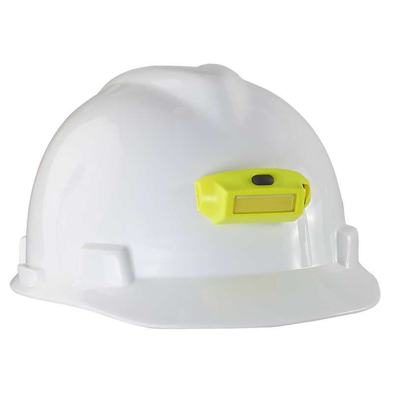 Streamlight Bandit Pro Headlamp with 3M® Dual Lock® attached to hard hat with 3M Dual Lock