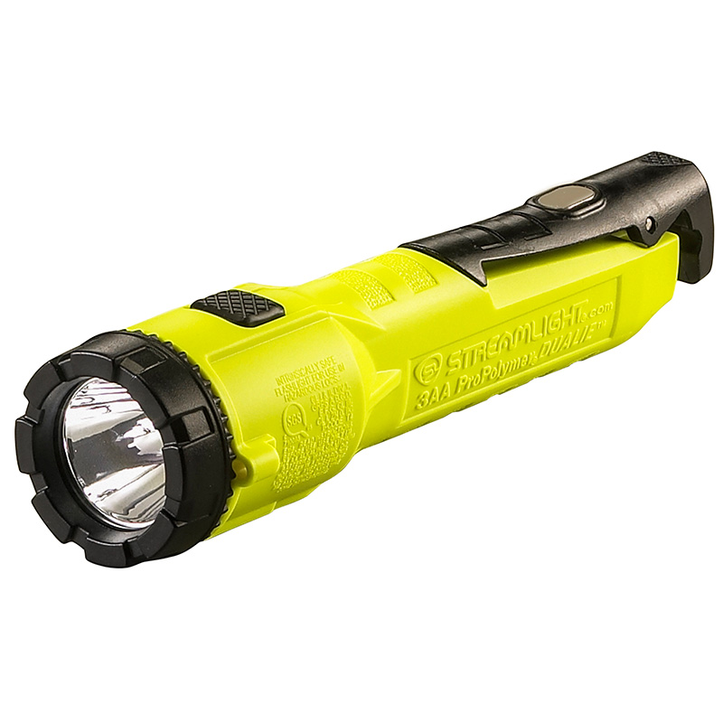 Yellow Streamlight Dualie 3AA with Magnetic Clip