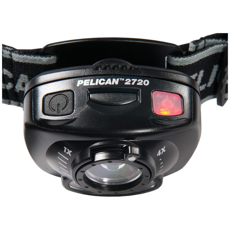 Pelican™ 2720 LED Headlamp push-button manual operation or gesture activation
