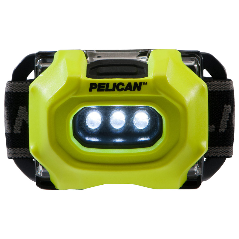 Pelican™ 2745 LED Headlamp equipped with three LED's