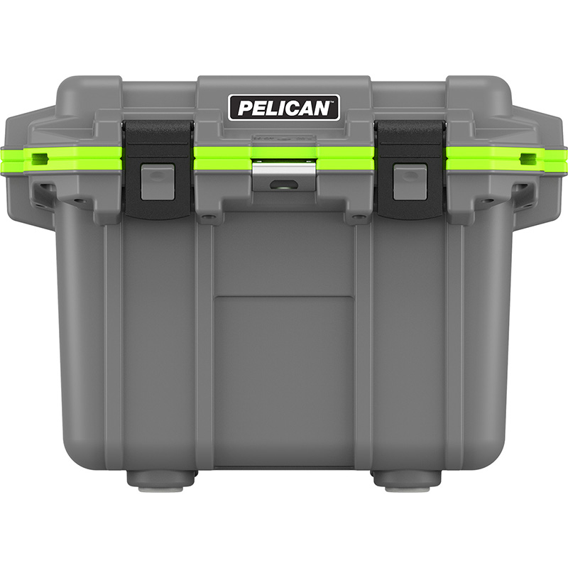 Dark Gray Pelican™ 30 Quart Elite Cooler with Green Trim