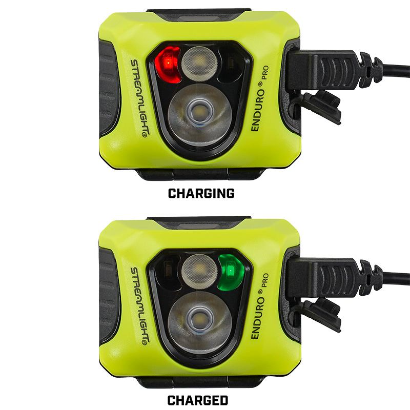Streamlight Enduro® Pro USB headlamp industrial model charge indicators