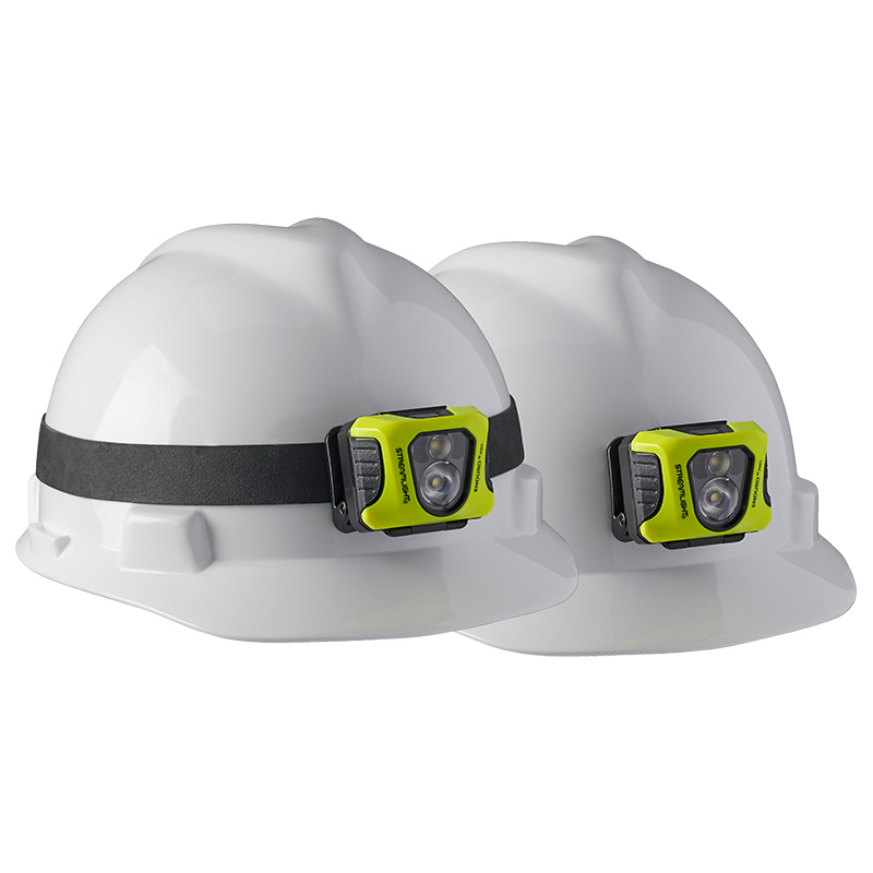 Streamlight Enduro® Pro USB headlamp industrial model attaches securely to hardhat