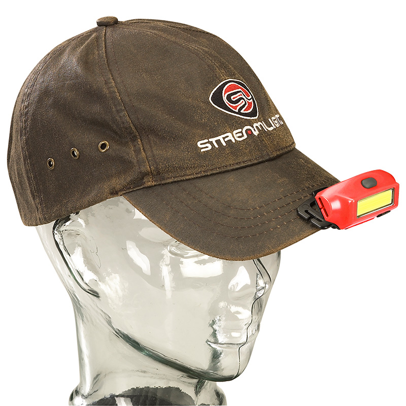 Streamlight Bandit® Rechargeable Headlamp may be attached to a cap