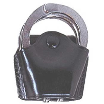 Standard Quick-Release Plain Leather Handcuff Holder (Handcuffs not included)