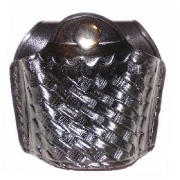 Standard Quick-Release Stallion Basket Weave Leather Handcuff Holder
