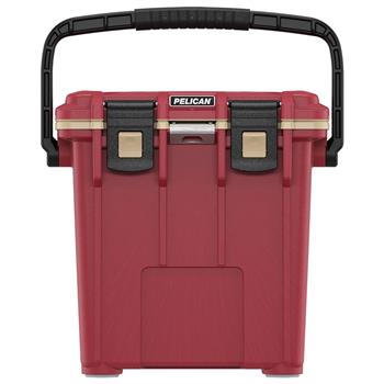 Canyon Red Pelican™ 20 Qt Elite Cooler with Coyote Trim