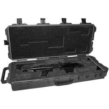 Black Pelican™ iM3100 Case w/Custom Foam for 1ea M249 Para Machine Gun (Contents Shown Not Included)