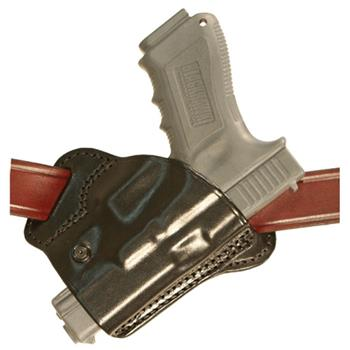 Behind-the-Back Steep Cant Stallion Leather Concealment Holster (Pistol and Belt not included)