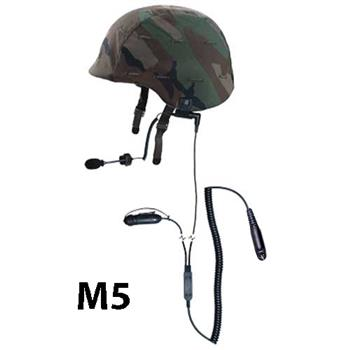 Squadcom Tactical Helmet Earpiece Headset with M5 Connector