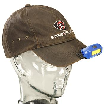 Streamlight Bandit® Rechargeable Headlamp attaches securely to the brim of your cap