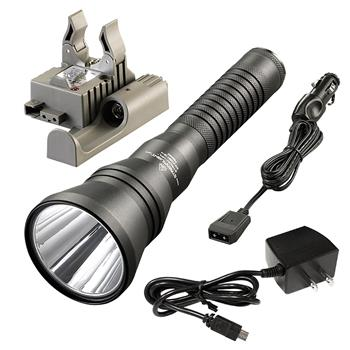 Streamlight Strion HPL with AC/DC charge cords and PiggyBack base