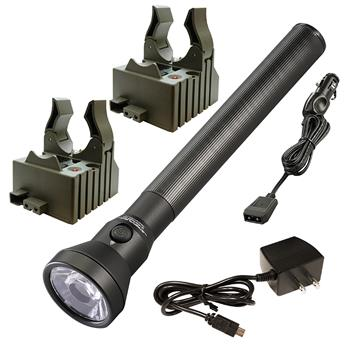 treamlight UltraStinger LED Flashlight with AC/DC charge cords and two bases